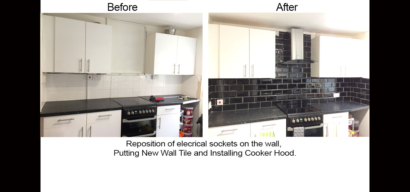 Wall Tile and Installing Cooker Hood